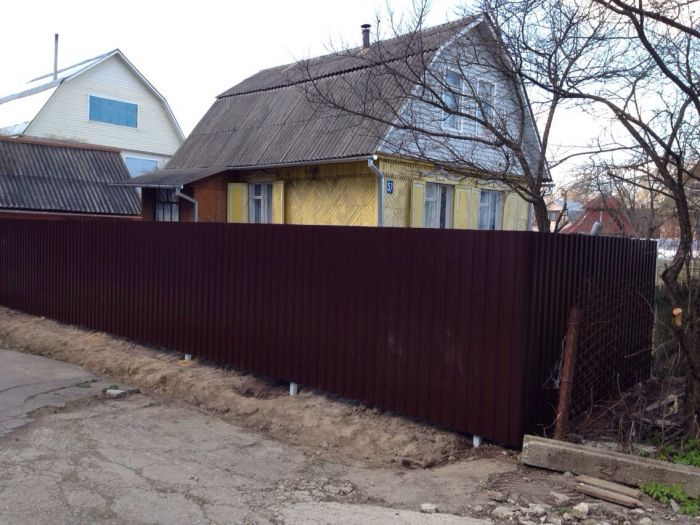 ворота и заборы из профнастила в балашихе