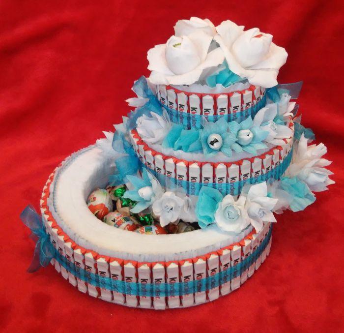 Как сделать торт ребенку из конфет своими