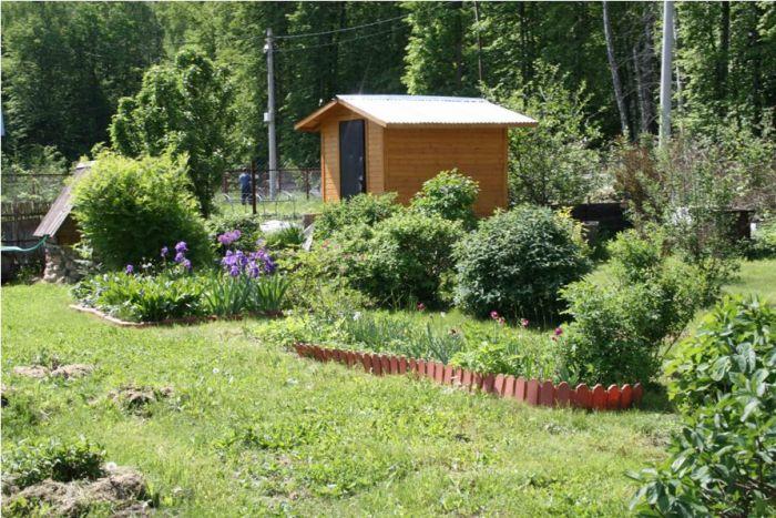 Фото садов с постройками